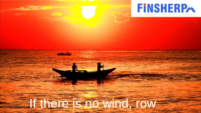When there is no WIND, ROW your Boat!